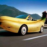 kunst banaan auto klein