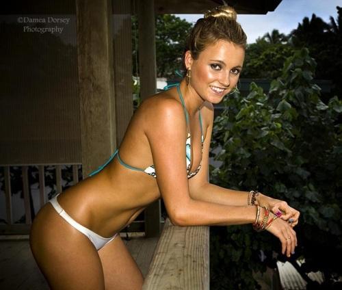 Stephanie Pratt beach volleyball bikini