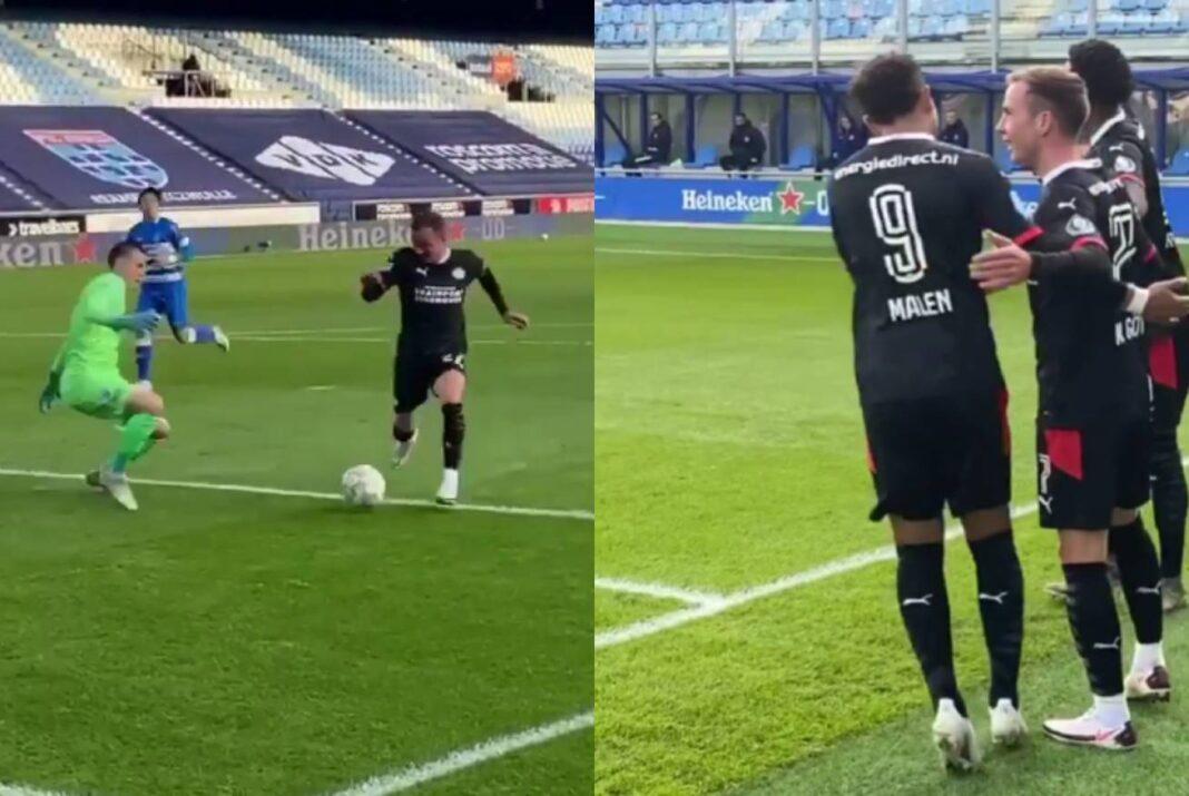 PSV Mario Gotze Pec Zwolle Goal Eredivisie