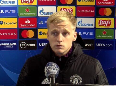 Donny van de Beek Manchester United CHampions League Basaksehir Interview