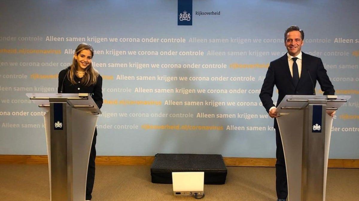 Hugo de Jonge dochter thuiswerken quarantaine corona persconferentie