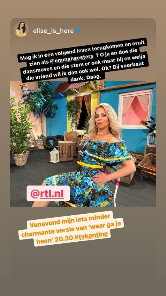 Elise Schaap Emma Heesters tv kantine