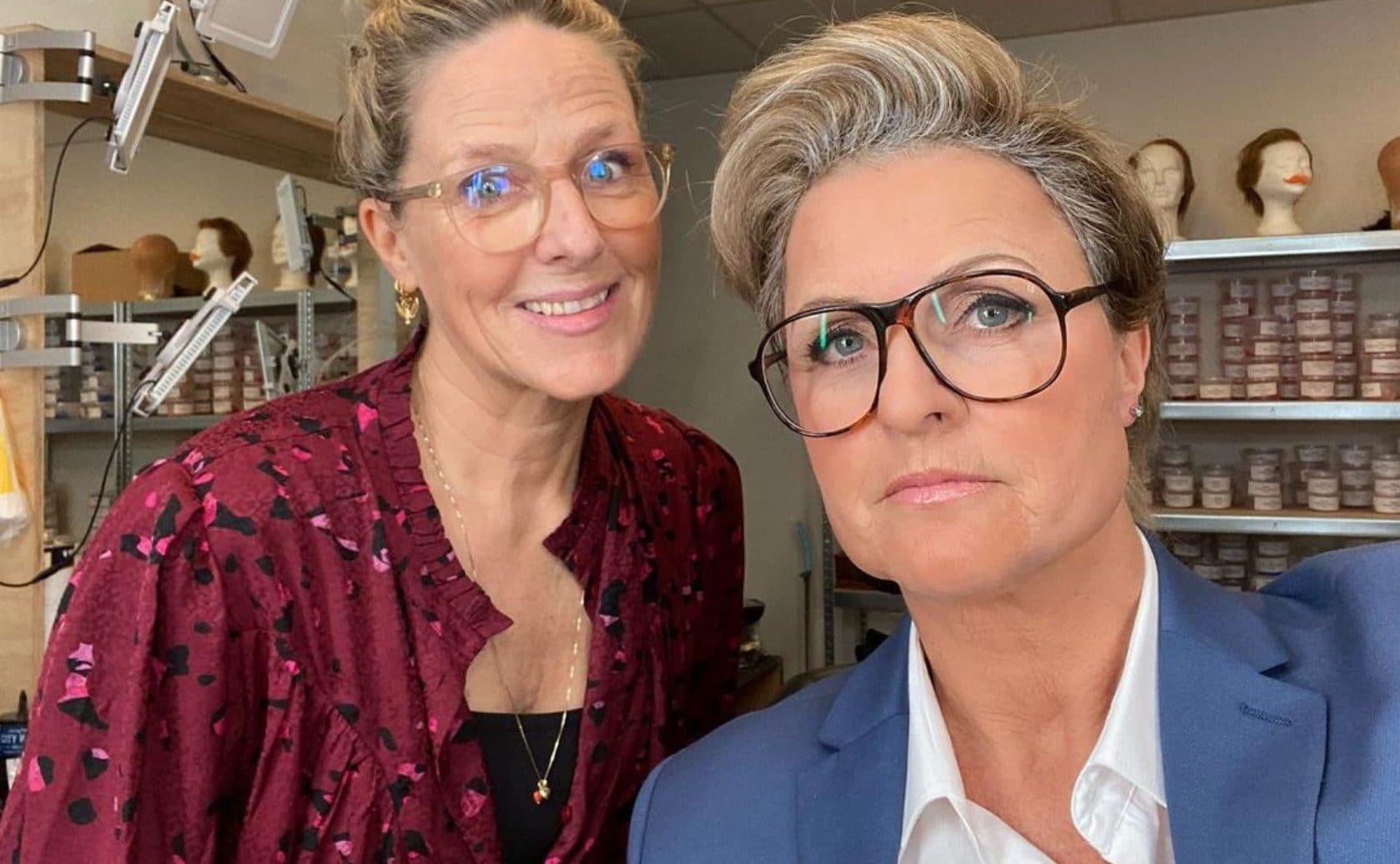 TV Kantine Irene Moors Margriet van der Lindern