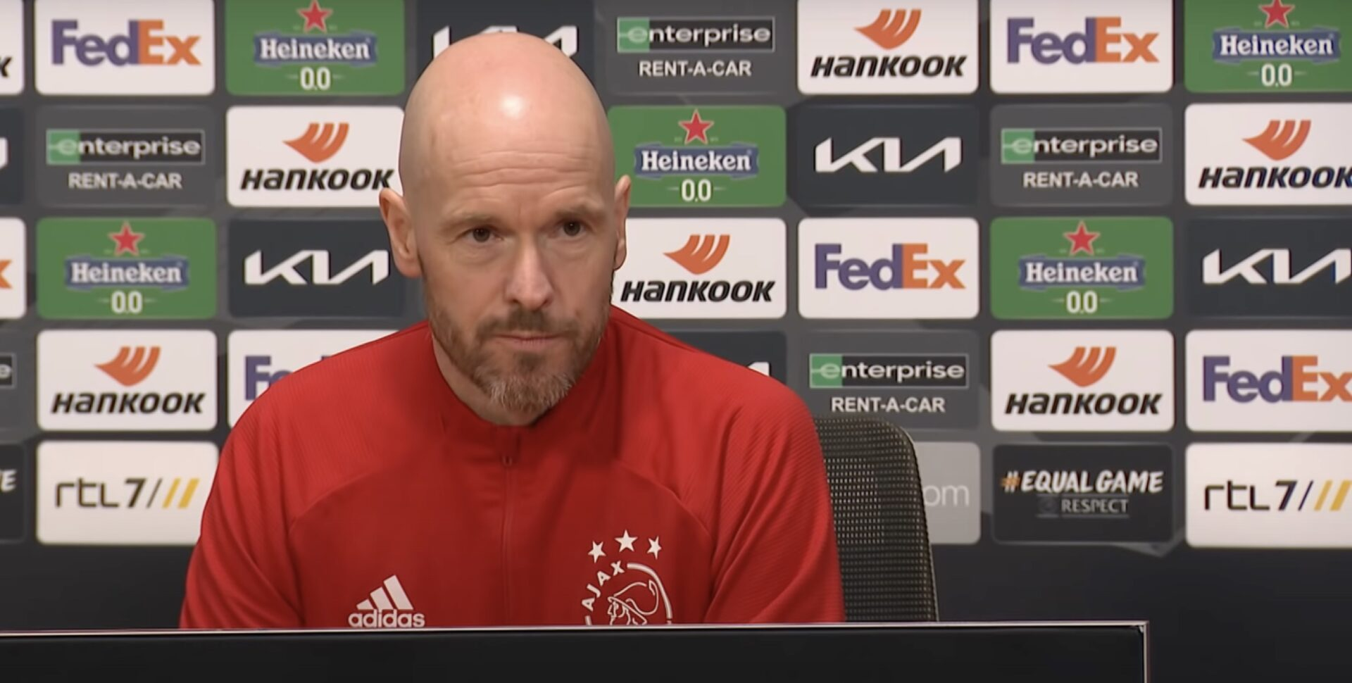 Ajax Interview Ten Hag AS Roma tv-kantine Europa League