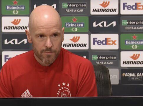 Ajax Interview Ten Hag AS Roma tv-kantine Europa League