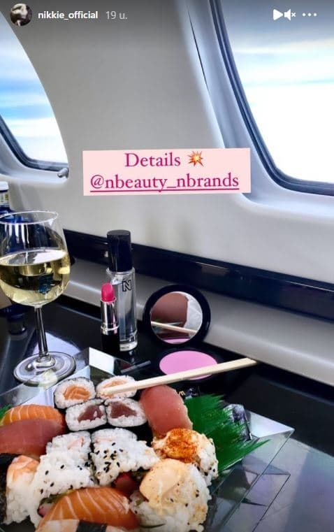 nikkie plessen sushi prive vliegtuig